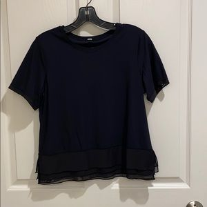 Lululemon black workout top with UV protection